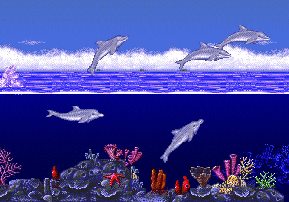 [Jeu] Screenshot de jeux vidéos  Ecco-the-Dolphin-Screenshot