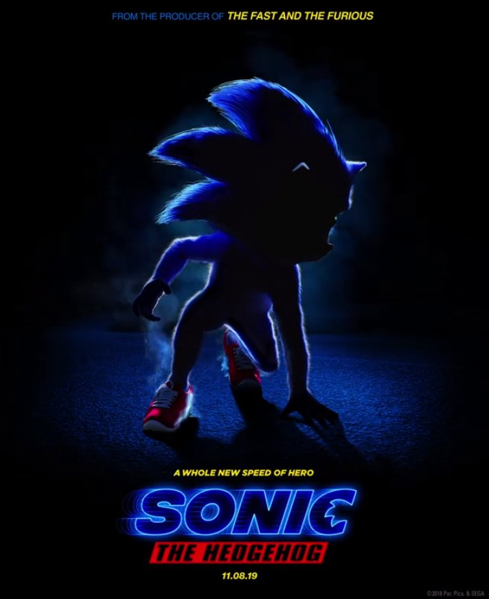 First Look At Sonic S Appearance In The 2019 Sonic The Hedgehog Movie Segadriven